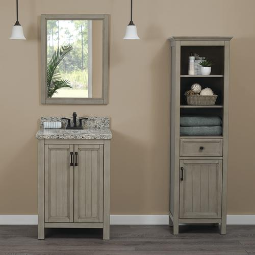 Peachy Foremost 20W X 68H Antique Gray Linen Cabinet At Menards Interior Design Ideas Apansoteloinfo