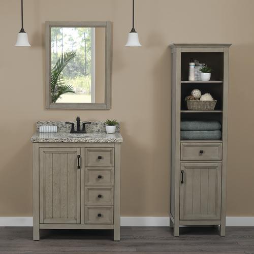 "Foremost® Hiland 30""W x 21-1/2""D Antique Gray Bathroom ..."