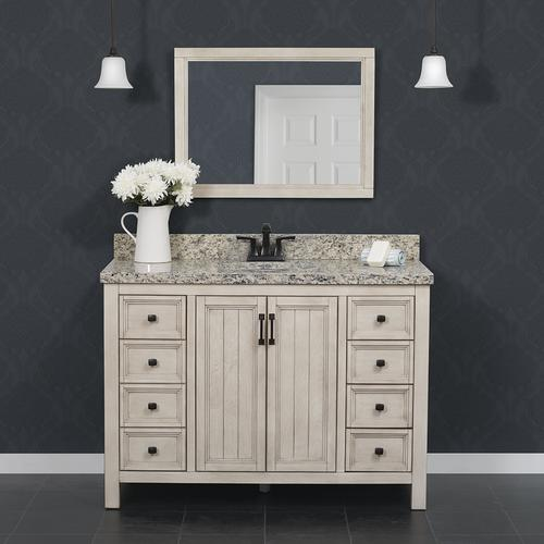 Foremost Hiland 48 W X 21 1 2 D Antique White Bathroom