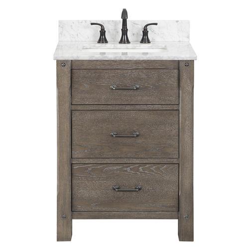 Foremost Roberson 24 W X 21 1 2 D Dark Oak Bathroom Vanity