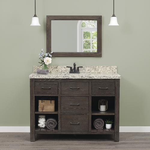 Magnificent Foremost Roberson 48W X 21 1 2D Dark Oak Bathroom Vanity Download Free Architecture Designs Scobabritishbridgeorg