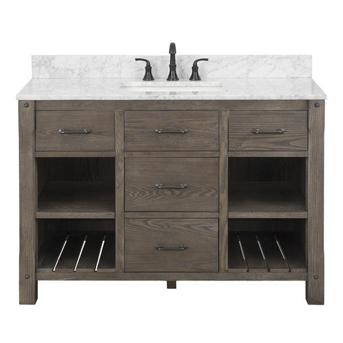 Foremost roberson 48 w x 21 1 2 d dark oak bathroom - Menards bathroom vanities 48 inches ...