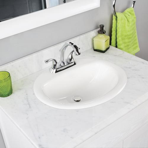 Cool Foremost Maret 20W X 16 7 8D Oval Drop In Sink At Menards Home Interior And Landscaping Palasignezvosmurscom
