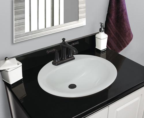 Foremost Dahlin 19 W X D White Round Drop In Sink At Menards