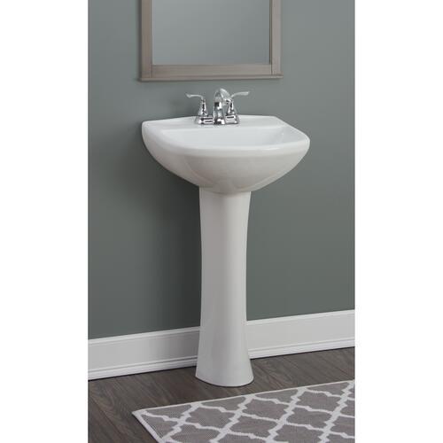 Foremost Cavalier 20 W X 17 D White Round Pedestal Sink And Base At Menards