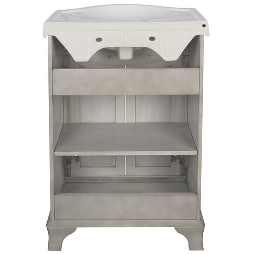 "Foremost Corsicana 25""W x 19""D Antique Gray Vanity and ..."