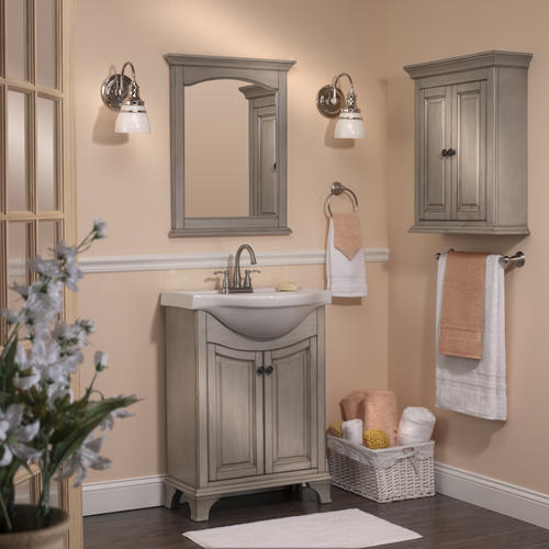 Foremost Corsicana 25 Quot W X 19 Quot D Antique Gray Vanity And