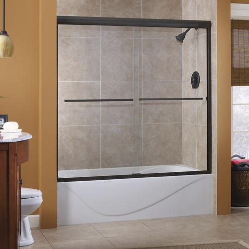 Foremost Cove 54 W X 55 H Semi Frameless Sliding Bathtub Shower Door At Menards