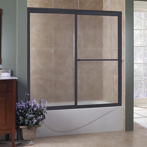 Foremost Tides 60 W X 56 H Sliding Bathtub Door In Oil Rubbed