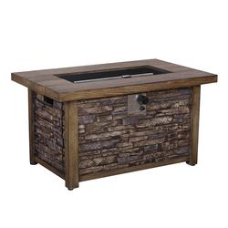 Backyard Creations® Stackstone Propane Gas Fire Pit Table ...