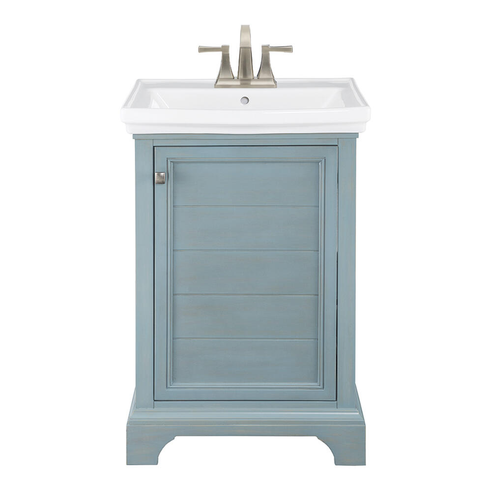 Foremost Reid 23 5 8 W X 17 7 8 D Vanity And White Porcelain Vanity Top With Rectangular Integrated Bowl At Menards