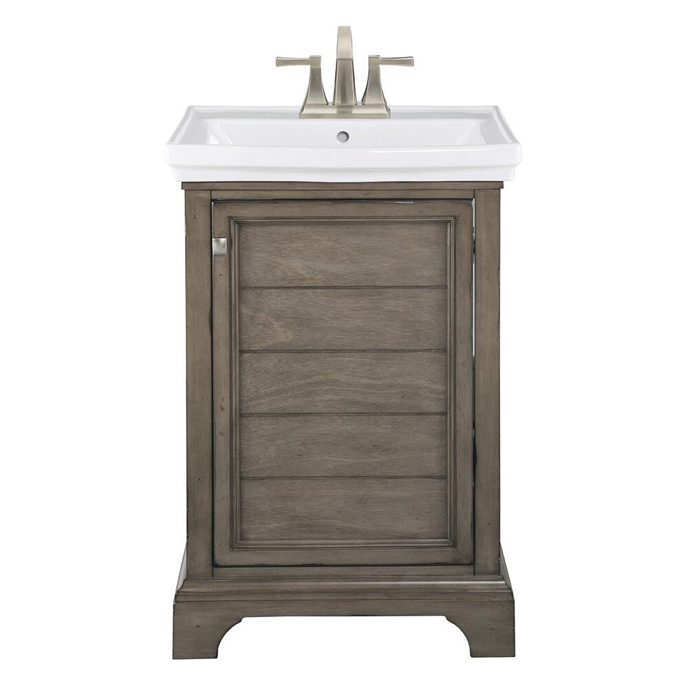 """Foremost® Reid 5-5/5""""W x 5-5/5""""D Vanity and White Porcelain"""