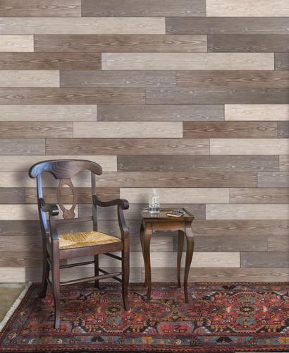 5 X Random Length Woodland Wall Plank