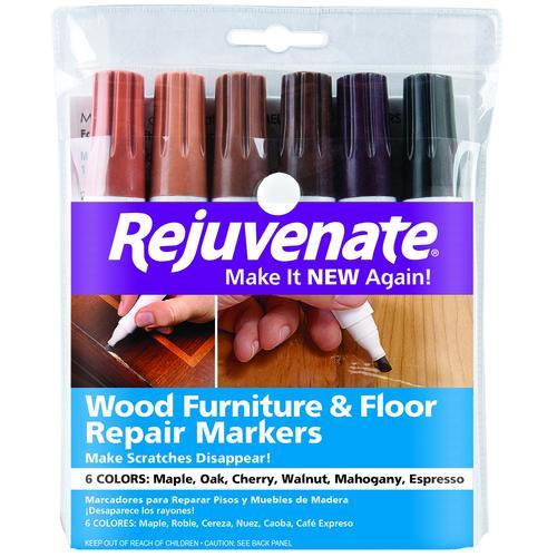 Rejuvenate Wood Furniture Floor Repair Markers 6 Count