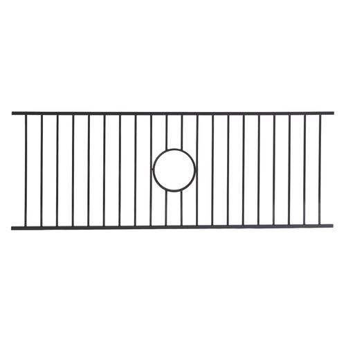 decorative deck railing panels wrought iron panel fence.htm fortress fe26 ornamental steel panel at menards    fortress fe26 ornamental steel panel at