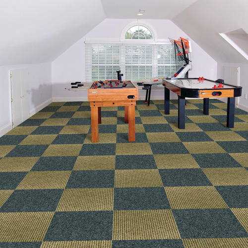 24x24 carpet tiles peel stick foss ozite quickfloor selfadhesive modular carpet tile 18 225 sqftctn at menards