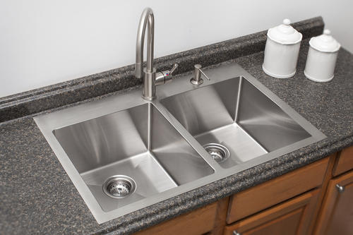 Franke Dual Mount 33 Stainless Steel 2 Hole Double Bowl Kitchen Sink