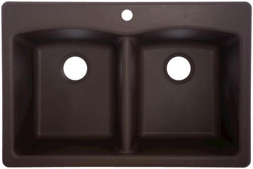 franke 33 x 22 dual mount granite double bowl sink at menards - Kitchen Sinks At Menards
