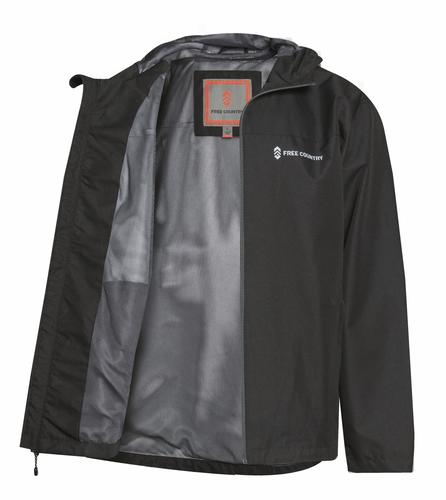 cb45da54774 Free Country® Men's Hooded Rain Jacket - Medium/Jet Black