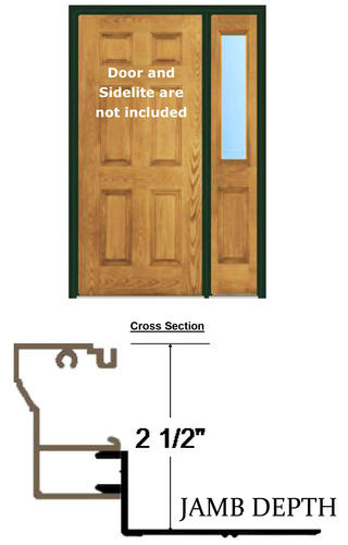 """BayGuard™ 4' 2"""" x 6' 8"""" x 4-9/16"""" Aluminum Retro-Fit Single Entry Door Frame with 12"""" Sidelite Frame"""