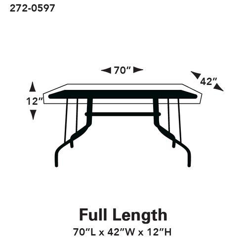Terrific Backyard Creations Deluxe Rectangle Oval Patio Table Cover Download Free Architecture Designs Scobabritishbridgeorg