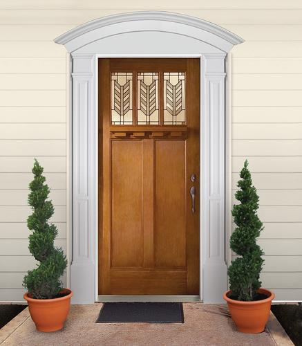 Fypon® Entrance Trim Kit With Double Panel Pilasters And Crosshead Arch At  Menards®