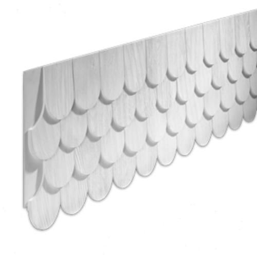 Fypon 16 13 16 X 102 1 8 Polyurethane Round Fishscale Panel At Menards