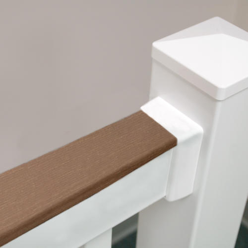Fypon Quickrail Plus 36 X 6 White Rectangle Stair Rail Kit With Deck Board Brackets At Menards