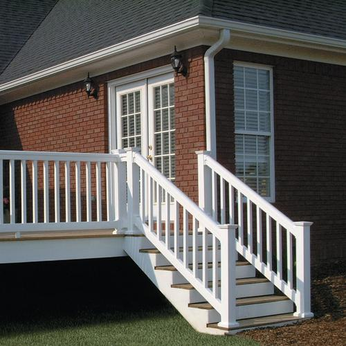 Fypon® QuickRail® Premium Stair Rail Kit with Square ...