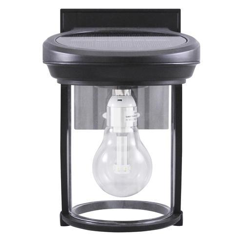 Solar Coach Light With Gs Bulb Cast Aluminum Black