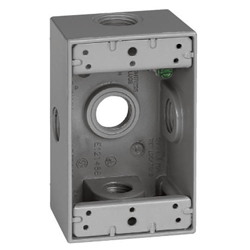 Sigma 1 Gang 1 2 Quot 5 Hole Side Entry Weatherproof
