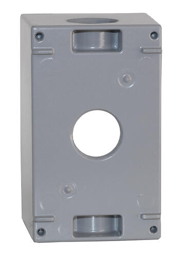 Sigma 1 Gang Gray 3 Hole Deep Weatherproof Electrical Outlet Box At Menards
