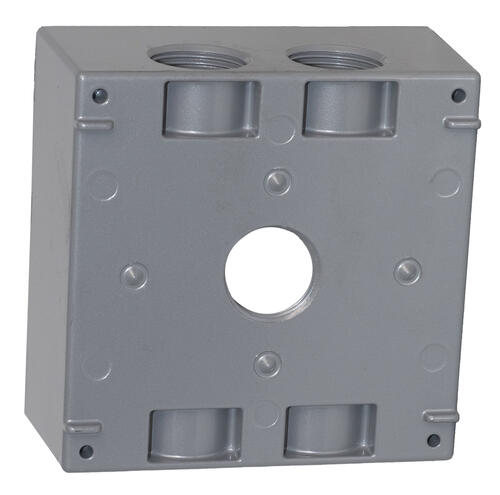 Sigma 2 Gang 3 4 5 Hole Weatherproof Electrical Outlet Box At Menards