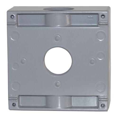 Sigma Electric 2 Gang 1 3 Hole Weatherproof Electrical Outlet Box Gray At Menards