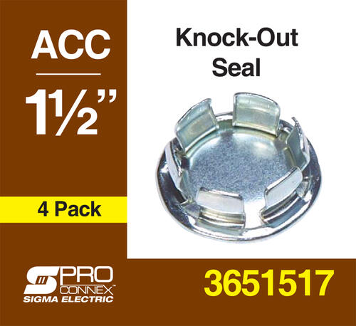 2-1//2 Hole Diameter 2 Knock-Out Seal
