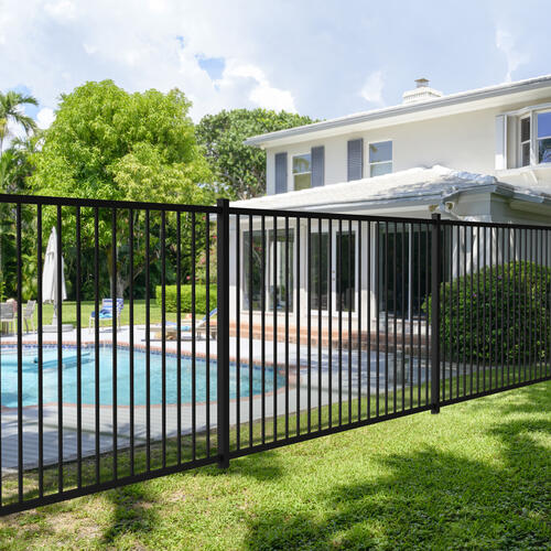 4-10 x 7-9 Black Steel Fence Panel at Menards®