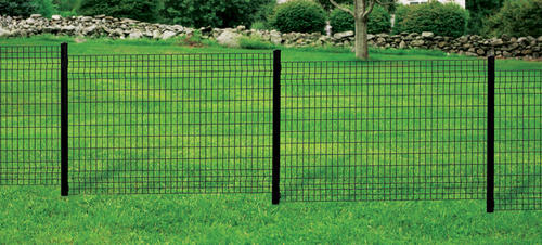 74 Quot Black Euro Steel Fence Post With Hardware At Menards 174