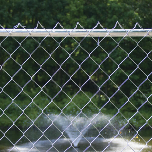 50 9 Gauge Galvanized Chain Link Fence Fabric At Menards