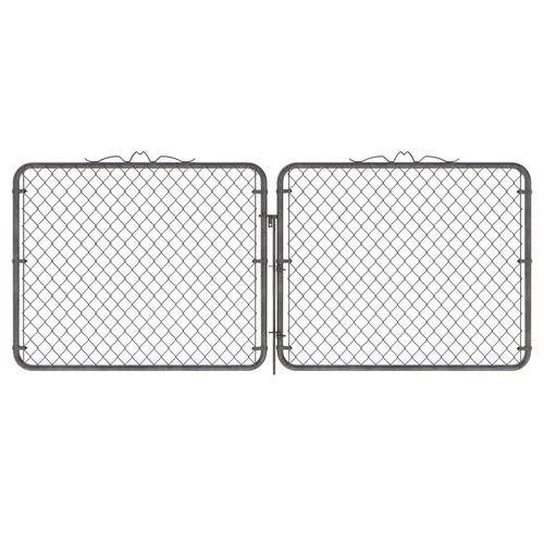 Galvanized Chain Link Fence Walk Gate At Menards 174
