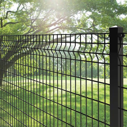 Iron Fence Panels >> 4 X 6 Black Euro Fence Panel At Menards