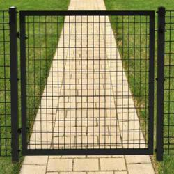 4 X 4 Black Euro Steel Fence Gate Panel At Menards 174