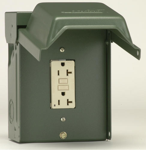 Ge 20 Amp Outdoor Backyard Outlet With Gfi Receptacle At Menards