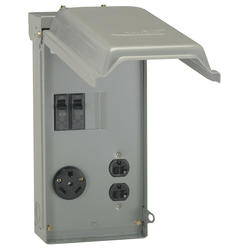 ge 30-amp outdoor power outlet box for rv