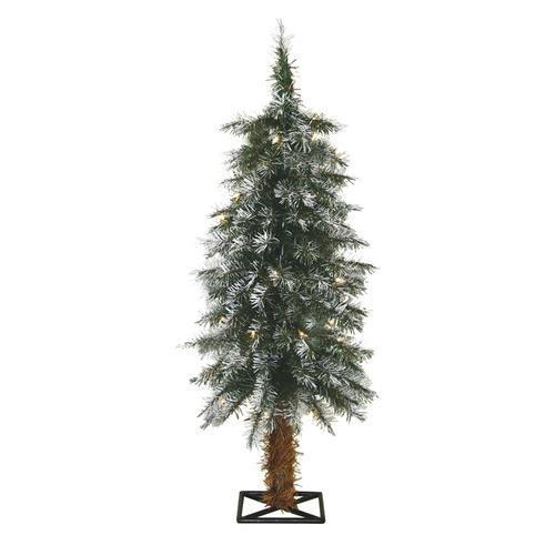 3 Pre Lit Christmas Tree.Enchanted Forest 3 Prelit Frosted Alpine Artificial