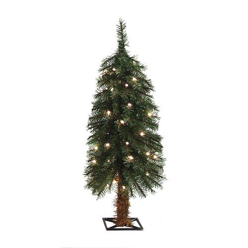 Enchanted Forest® 3' Prelit Alpine Artificial Christmas ...