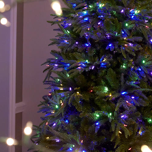Ultima 7 5 Prelit Led Dual Color Multi Function Lights Artificial Christmas Tree