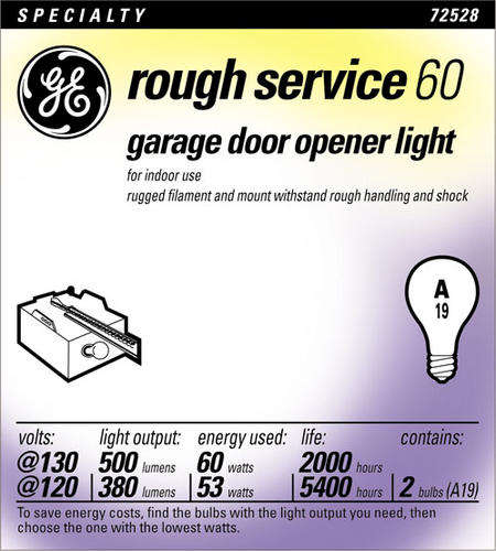 Ge 60 Watt 130 Volt Garage Door Light Bulb 2 Pk At Menards