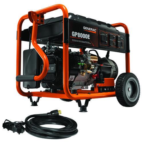 Generac® GP8000E 8,000 Running 10,000 Starting Watt Gasoline