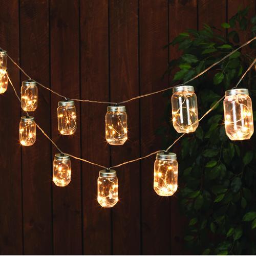 Enchanted Garden 20 Light Mason Jar Set At Menards