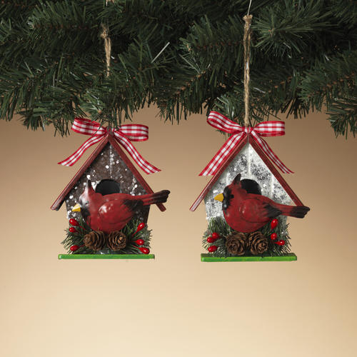enchanted forest decorations.htm enchanted forest   5  iron birdhouse ornament assorted styles at  enchanted forest   5  iron birdhouse
